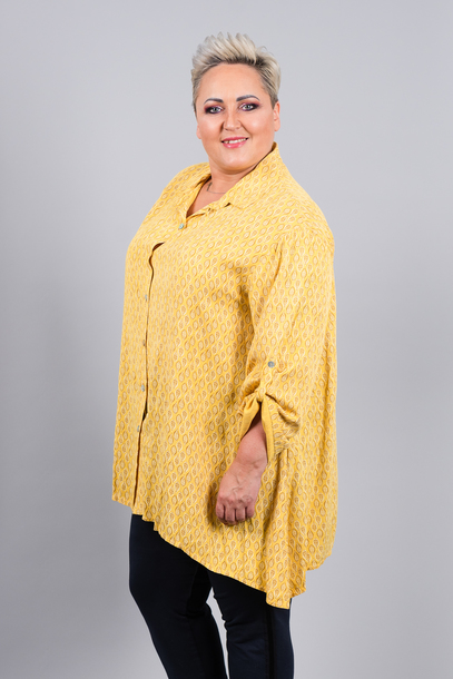 Koszula nadruk  żółta