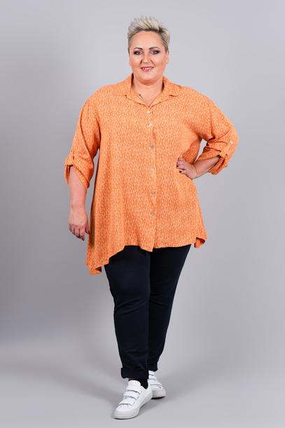 Koszula nadruk pomarańczowa
