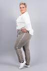Spodnie dresowe z lampasem beżowe