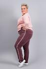 Spodnie dresowe z lampasem bordowe