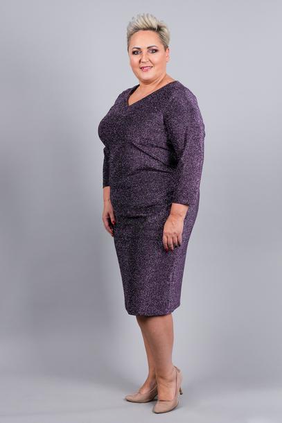 Sukienka z połyskiem fioletowa