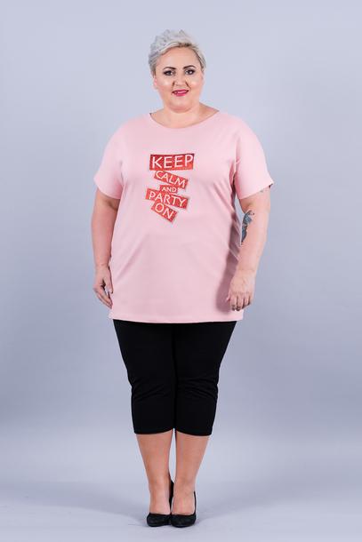 T-shirt Keep Calm różowy