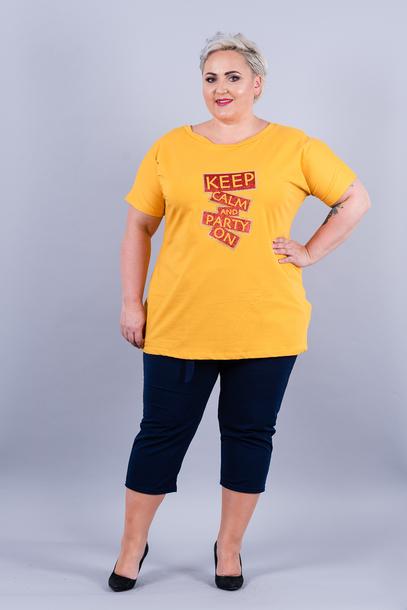 T-shirt Keep Calm żółty