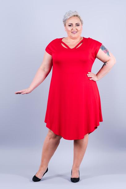 Wiki sukienka czerwona