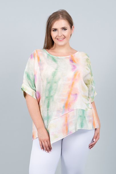 LANA bluzka lniana pastelowa (1)
