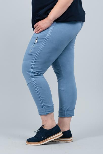 Spodnie bojówki niebieskie  (1)