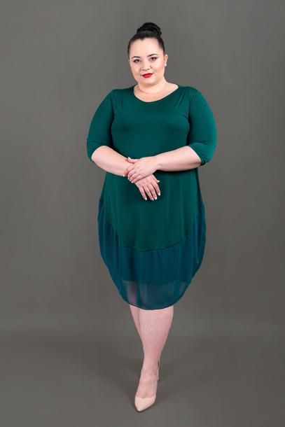 Sukienka z szyfonem zielona