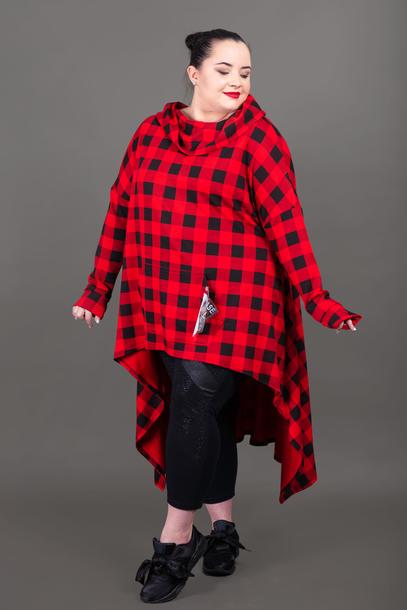 KORN bluza w kratę czerwona