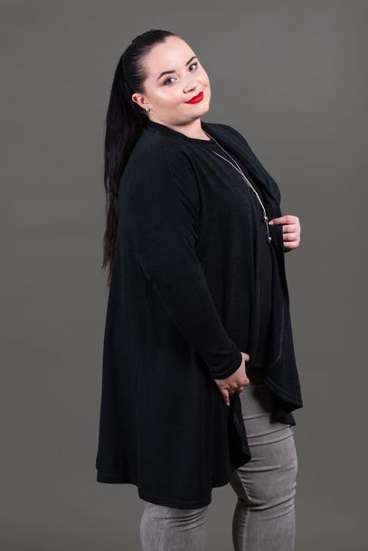 Narzutka sweterkowa czarna