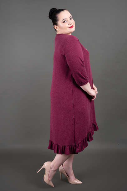 FALBANKA sukienka bordowa