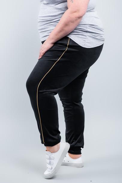 VELGOLD spodnie welurowe czarne