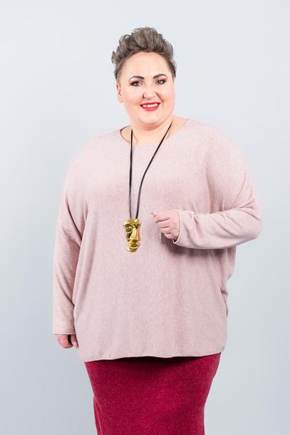 GŁADKI sweter różowy (1)