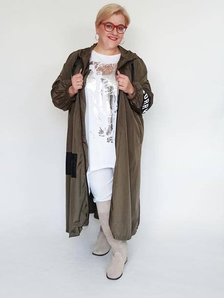 Płaszcz ortalionowy khaki