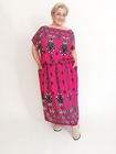 Sukienka GRAND print różowa