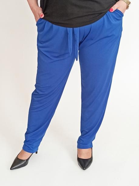 Spodnie lejące chabrowe