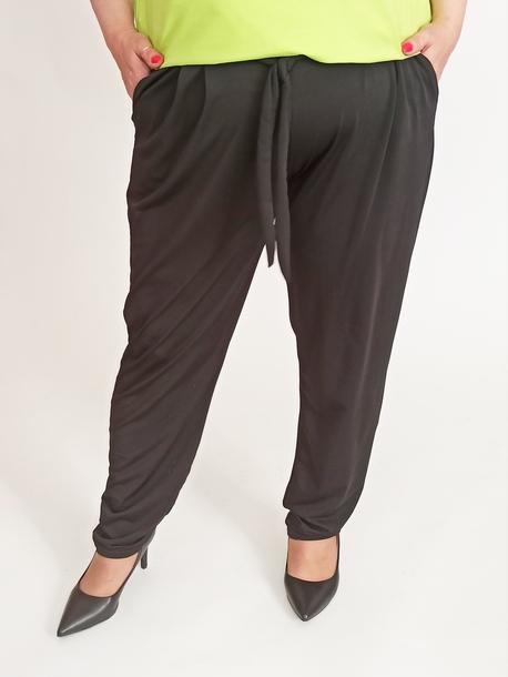 Spodnie lejące czarne