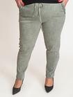 Spodnie oversize bawełniane khaki