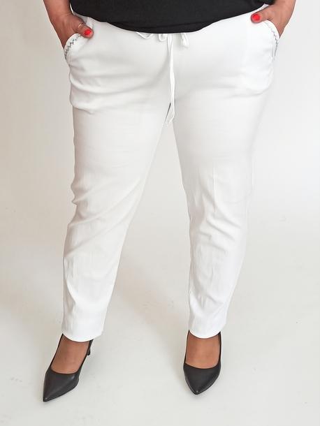 Spodnie oversize bawełniane białe
