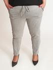 Spodnie oversize bawełniane szare