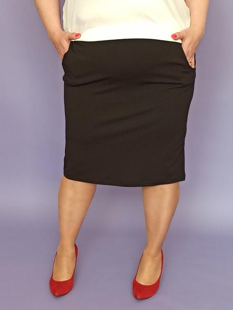 Spódnica z żorżety czarna (1)