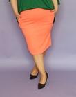 Spódnica z żorżety neon pomarańczowa (2)