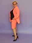 Spódnica z żorżety neon pomarańczowa (3)