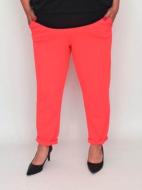 Spodnie żorżeta neon pomarańcz
