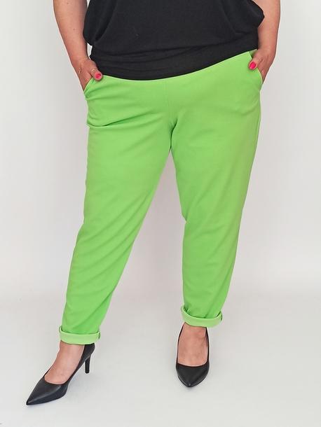 Spodnie żorżeta zielony neon