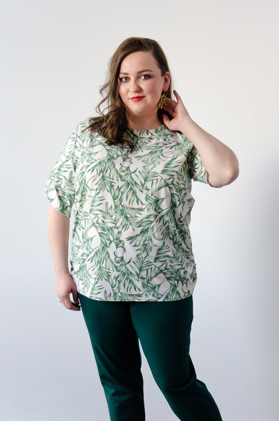 Bluzka zielone listki