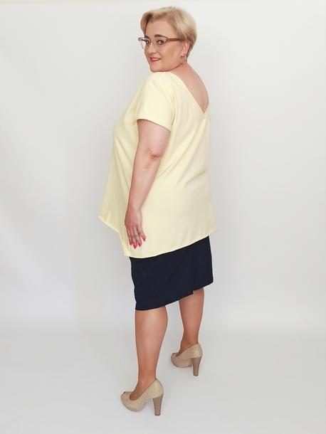 Bluzka dekolt szpic żółta