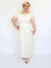 Sukienka długa ecru frędzelki (4)
