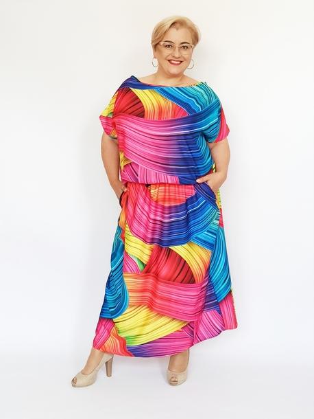 Sukienka Grand mix kolorów (1)