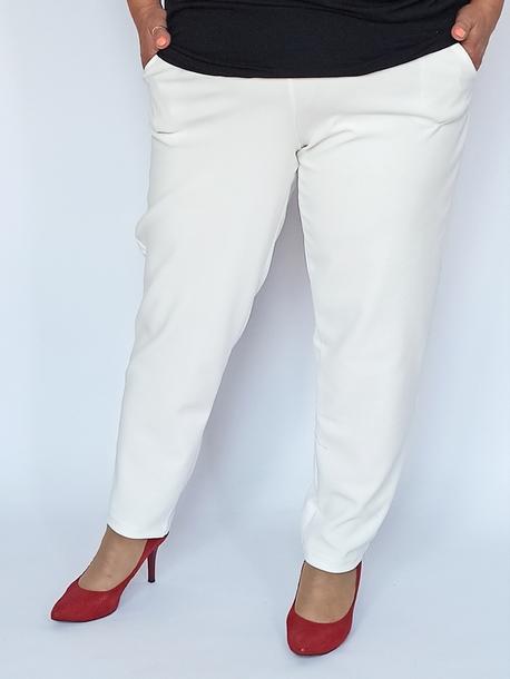 Spodnie żorżeta ecru