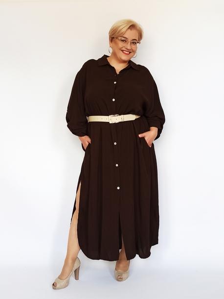 Sukienka koszulowa brązowa (1)
