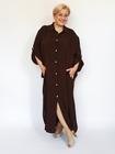 Sukienka koszulowa brązowa (2)