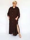 Sukienka koszulowa brązowa (3)