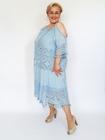 Sukienka midi boho niebieska (2)