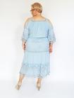 Sukienka midi boho niebieska (3)