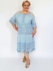 Sukienka midi boho niebieska (1)