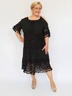 Sukienka boho midi czarna