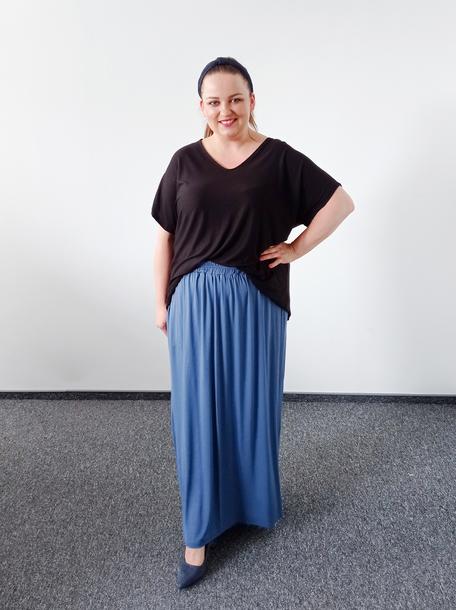 Spódnica długa wiskoza niebieska