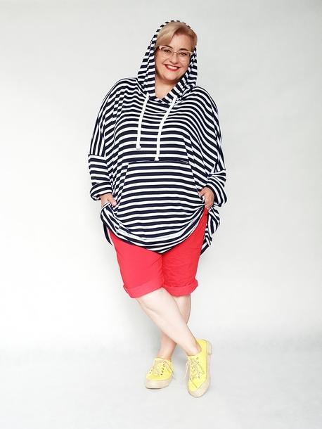 Bluza oversize w paski biało-czarne