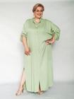 Sukienka koszulowa pistacjowa (3)