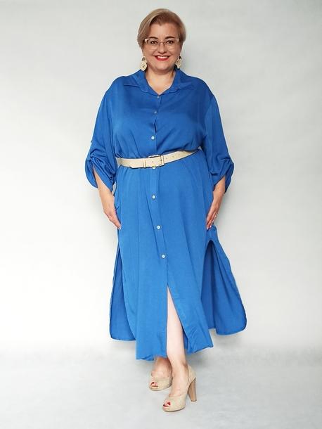 Sukienka koszulowa niebieska (1)