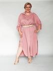 Sukienka koszulowa brudny róż (2)