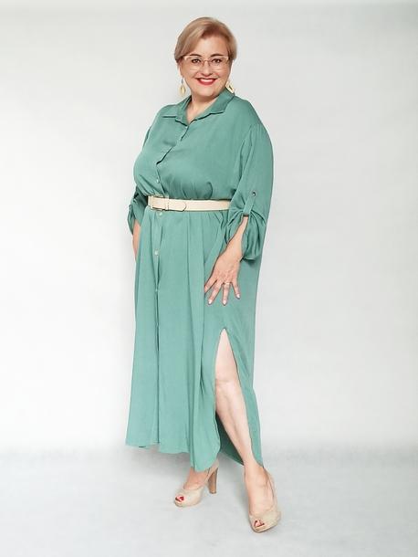 Sukienka koszulowa miętowa
