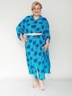 Sukienka koszulowa print niebieska