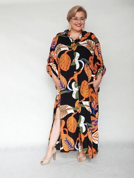 Sukienka koszulowa print monstery