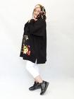 Bluza sportowa kwiaty czarna (3)