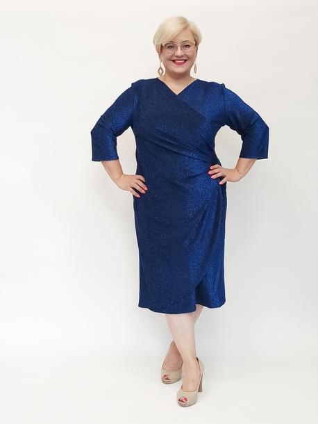 Sukienka brokatowa niebieska